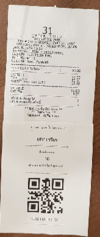 Example of QR point ticket appended to the receipt